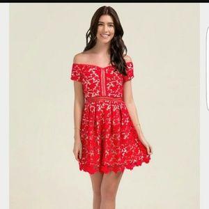Cute Off-the-Shoulder Mini Dress - Never Worn!